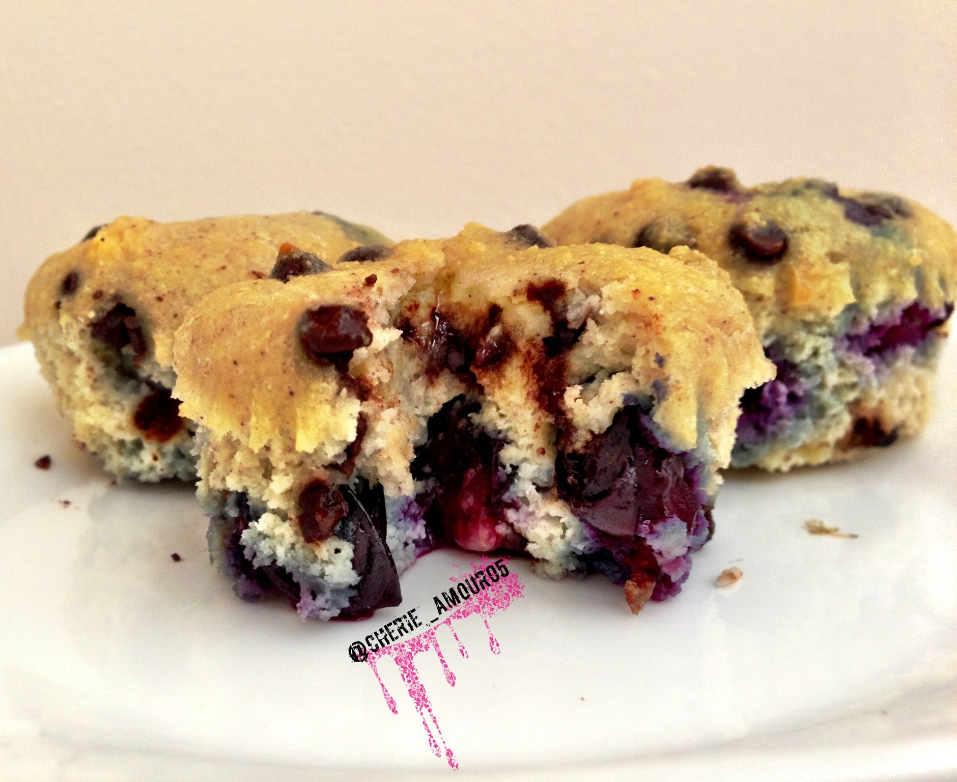 Ripped Recipes - Blueberry Chocolate Chip Muffins