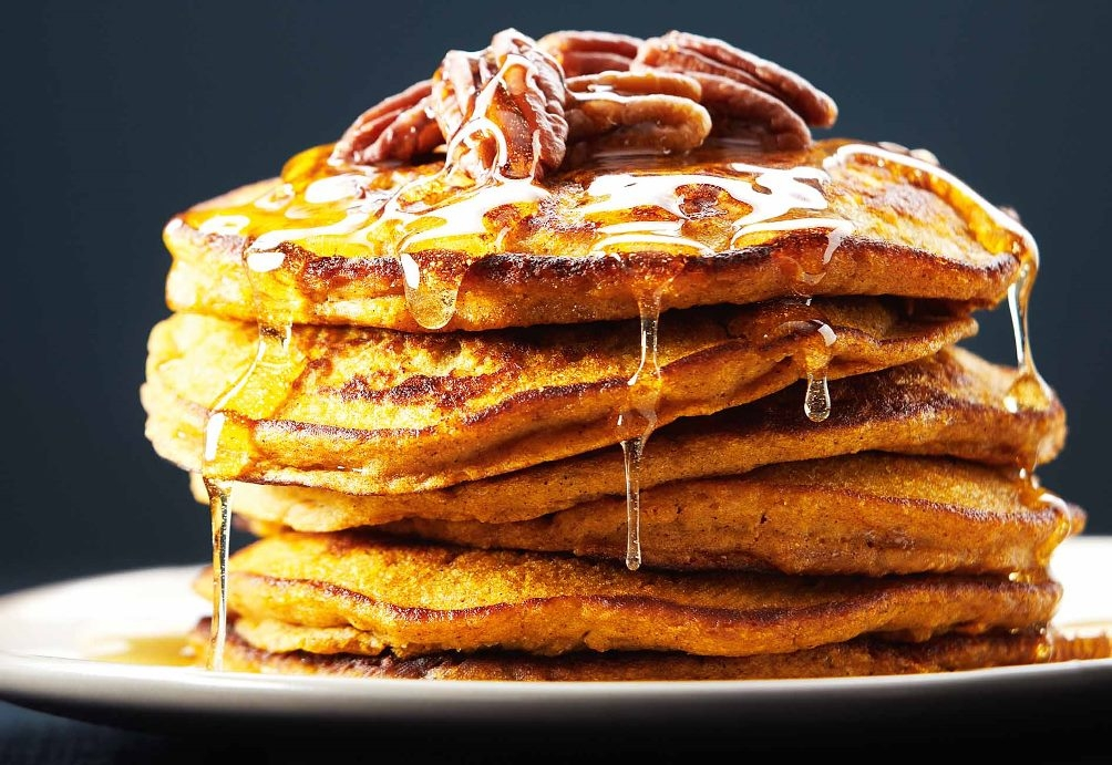 Ripped Recipes - Buttermilk Pumpkin Spice Protein Pancakes