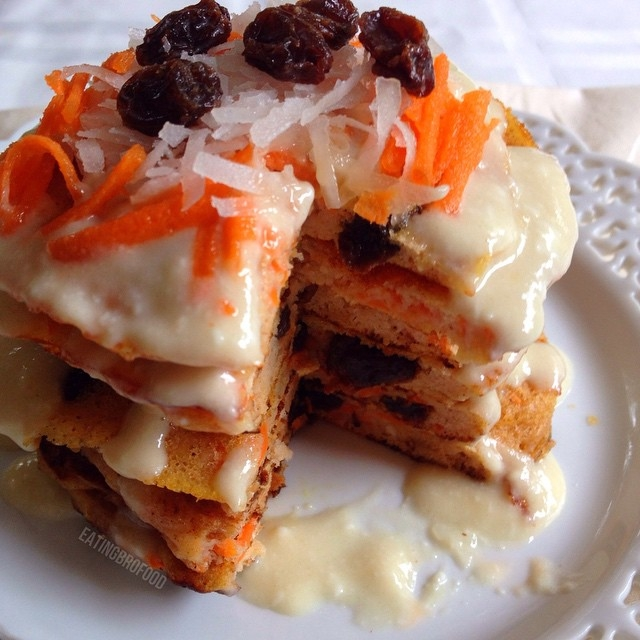 Ripped Recipes - Carrot Cake Protein Pancakes With Cream Cheese Incing