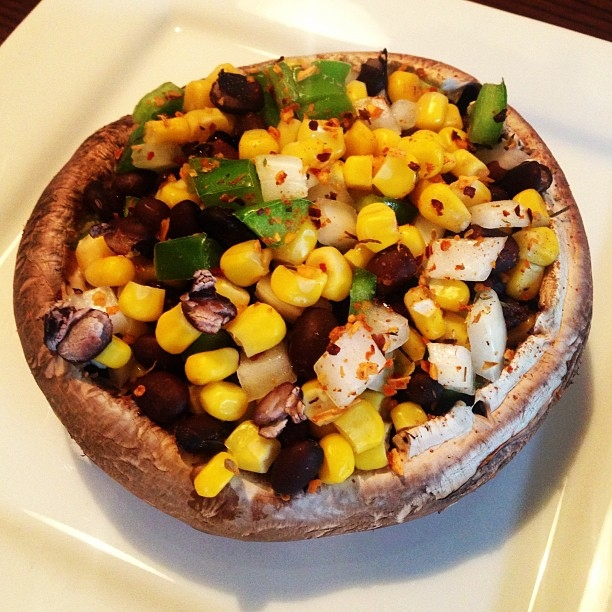 Southwestern Stuffed Portobello Mushrooms Recipe — Dishmaps
