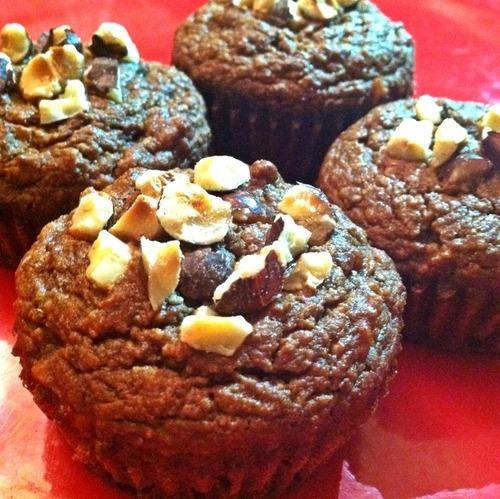 diet chocolate hazelnut muffins recipe