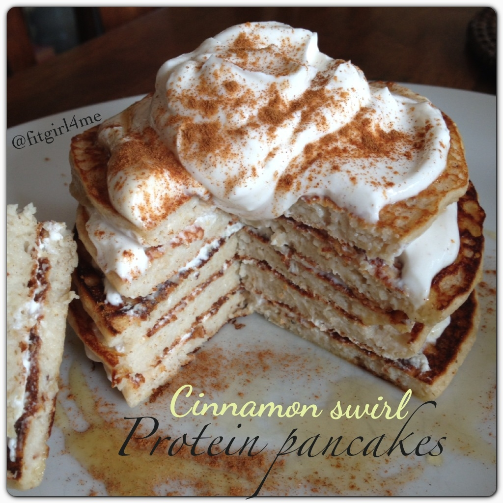 Ripped Recipes - Cinnamon Swirl Protein Pancakes