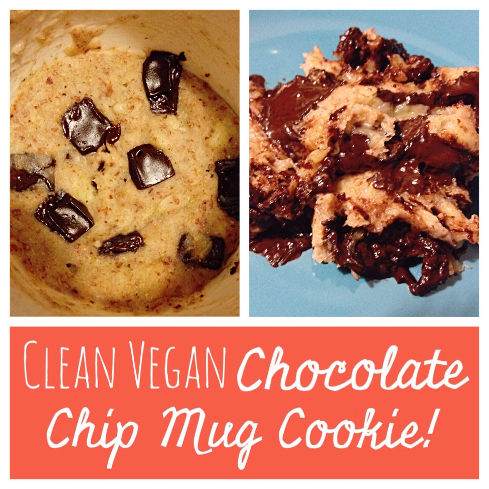 Ripped Recipes Clean Vegan Chocolate Chip Mug Cookie