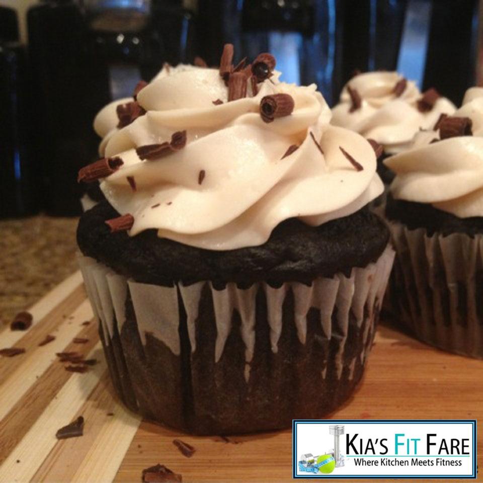Ripped Recipes - Dark Chocolate Protein Cupcakes