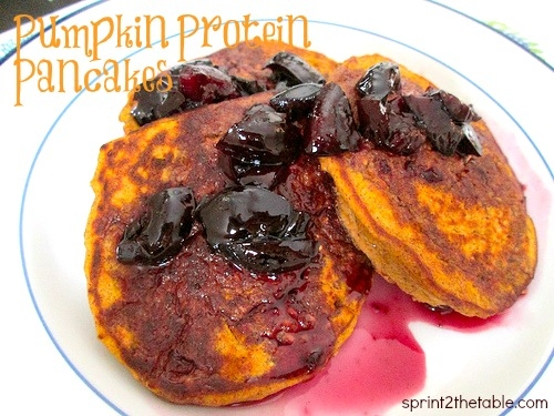 Ripped Recipes - Fall-Spiced Pumpkin Protein Pancakes