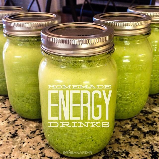 Energy Boosting Homemade Drinks