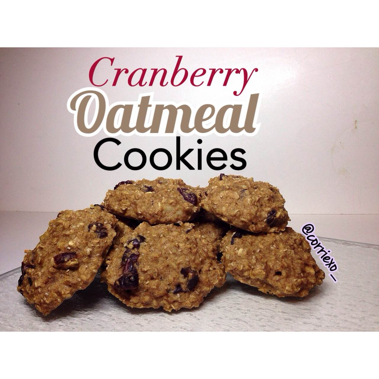 Ripped Recipes - Oatmeal Cranberry Cookies