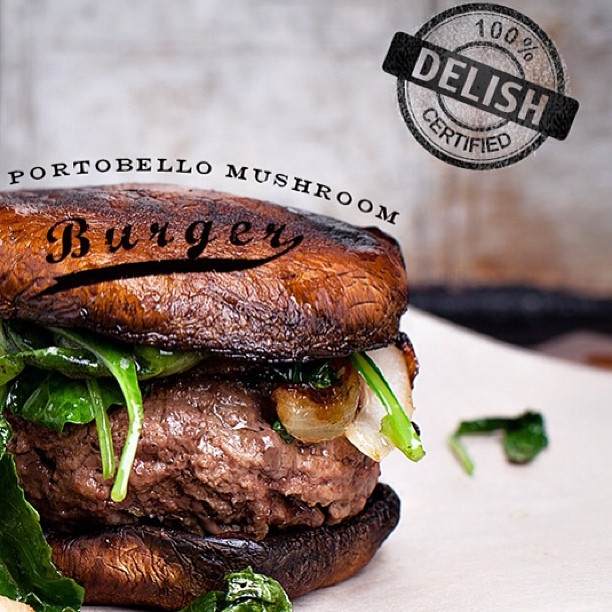 Ripped Recipes Portobello Mushroom Burger