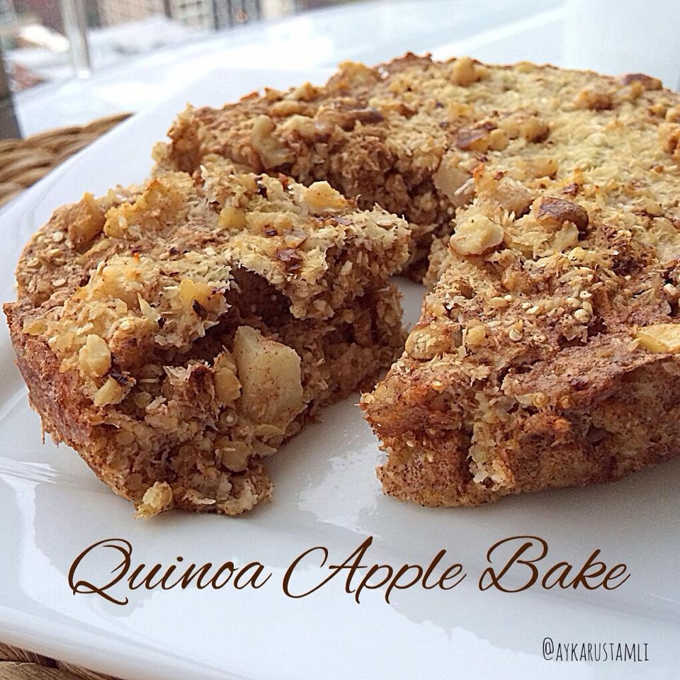 Baked Apple Cinnamon Quinoa Squares Recipe — Dishmaps