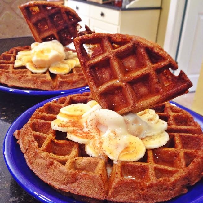 Ripped Recipes - S'Mores Chocolate Waffles
