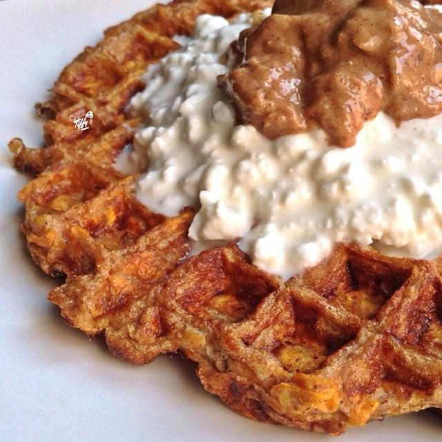 Ripped Recipes - Sweet Potato Waffle