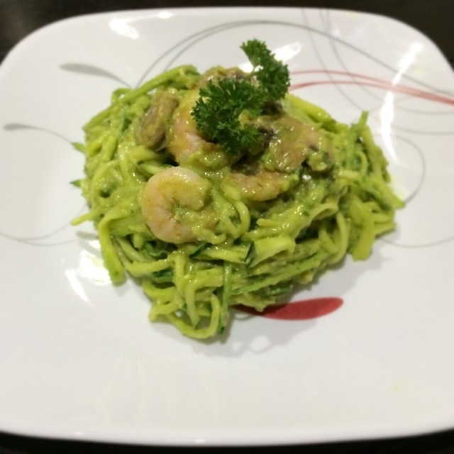 Ripped Recipes - Zoodles In a Creamy Citrus Avocado Sauce