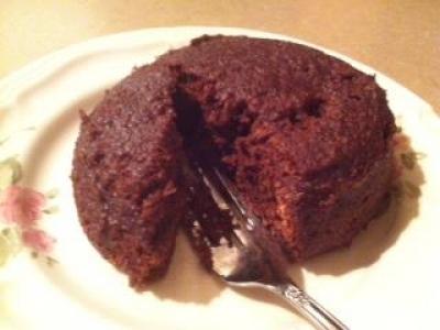 Paleo Microwave Chocolate Snack Cake