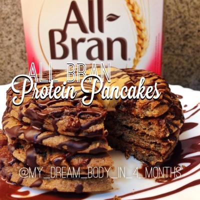 All Bran Protein Pancakes