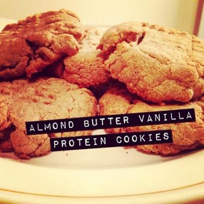 Almond Butter Vanilla Protein Cookies