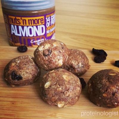 Almond Cinnamon Raisin Protein Balls