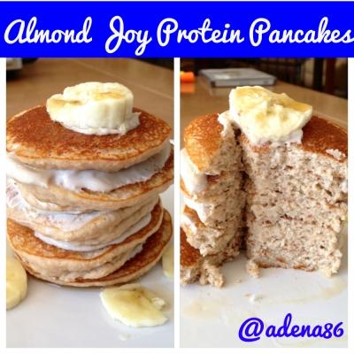 Almond Joy Protein Pancakes