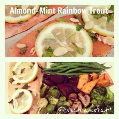 Almond-Mint Rainbow Trout