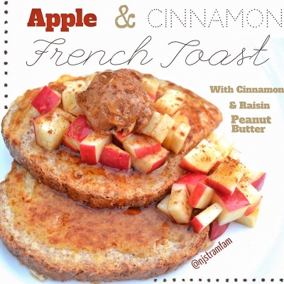 Apple & Cinnamon French Toast With Raisin & Cinnamon Peanut Butter