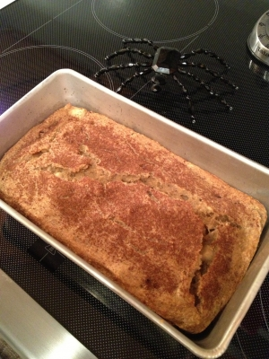 Apple Cinnamon Banana Oatmeal Bread