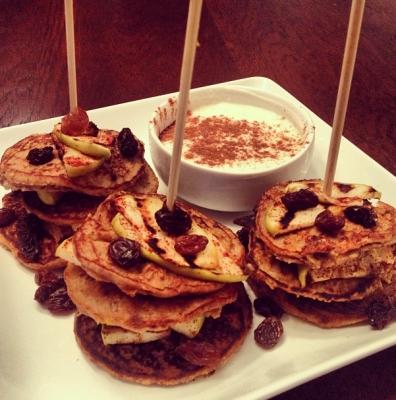 Apple Cinnamon Raisin Pancake Kabobs