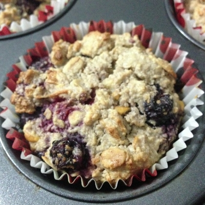 Apple, Oat and Mixed Berry Muffins