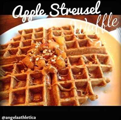 Apple Streusel  Waffle With Cashew Butter