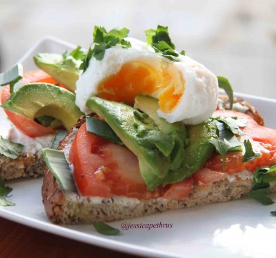 Avocado and Chive Egg Sandwich