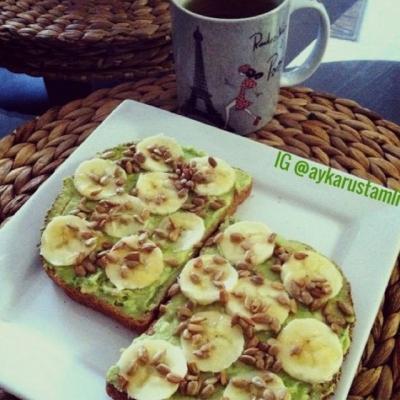 Avocado Banana Toast