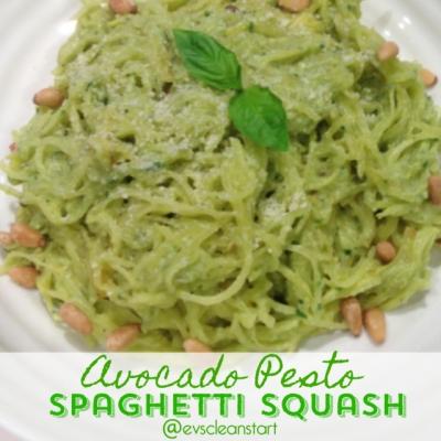 Avocado Pesto Spaghetti Squash