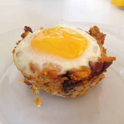 Bacon and Sweet Potato Egg Cupcakes