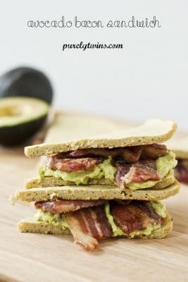 Bacon Avocado Grain-Free Sandwich