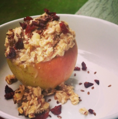 Baked Apple Strawberry Oatmeal