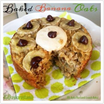 Baked Banana Oats