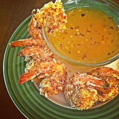 Baked Coconut Shrimp & Kicked Up Apricot Sauce