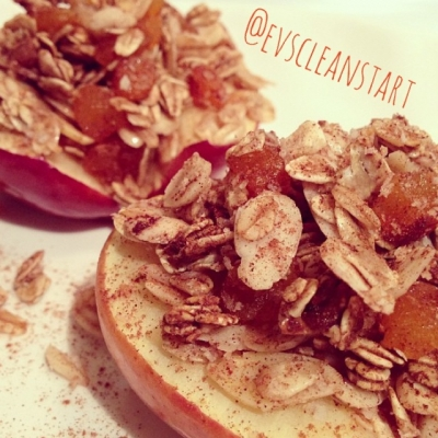 Baked Oat-Apricot Apple!