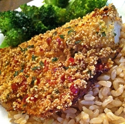 Baked Spicy Millet Crusted Cod