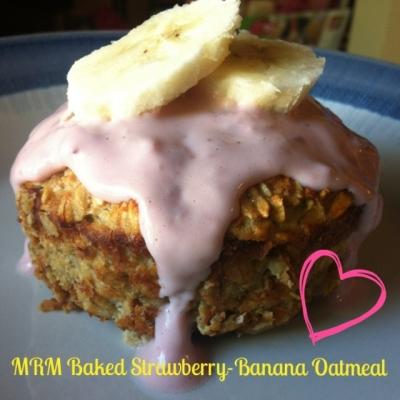 Baked Strawberry-Banana Oatmeal