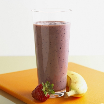 Banana and Strawberry + Protein Smoothie
