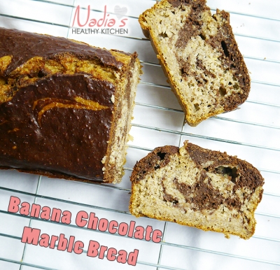 Banana Chocolate Marble Bread