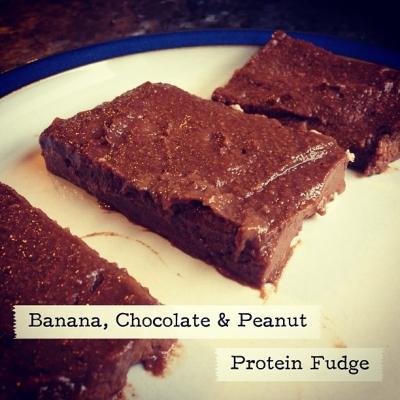 Banana Chocolate Peanut Protein Fudge