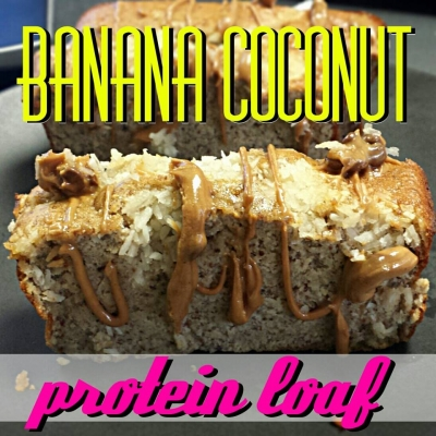 Banana Coconut Protein Loaf
