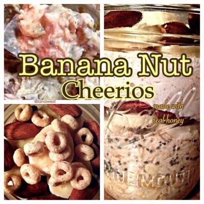 Banana Nut Cheerio Oats In a Jar