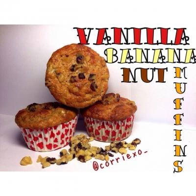 Vanilla Banana Nut Muffins
