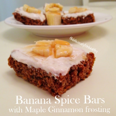 Banana Spice Bars With Maple Cinnamon Frosting
