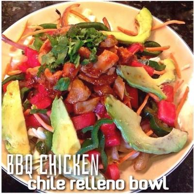 Bbq Chicken Chile Relleno Bowl