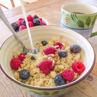 Berry Vanilla Breakfast Quinoa