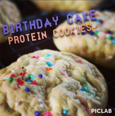 Birthday Cake Protein Cookies