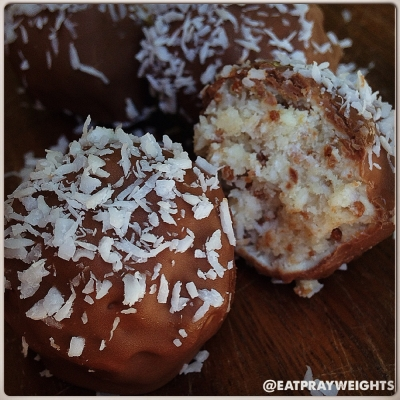 Black and White Coconut Truffles