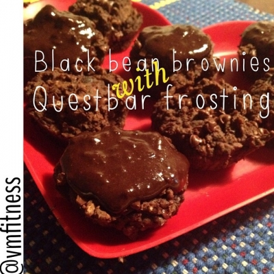 Black Bean Brownie Muffins With Quest Bar Frosting